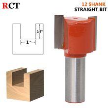 1PCS  12mm Shank Straight/Dado Router Bit Double Flute Straight Bit Carbide Woodworking Straight Router Bit Set