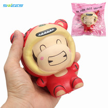 5Pcs New Original Tiger Doll Squishy Soft Slow Rising Jumbo Cartoon Cute Phone Straps Charms Scented Cake Bread Kid Toy Fun Gift(China)
