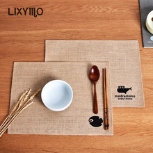 LIXYMO natural jute table mat food place heat proof heat insulated pad Japan simple style anti-worms anti-microbial damp proof(China)