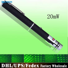 DHL/Fedex/UPS 100pcs/lot High Quality 20mW Green Laser Pointer Light Laser Pen Without 2 AAA Batteries