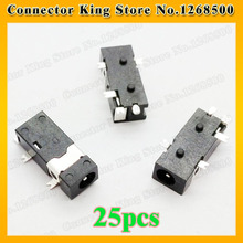 25pcs Power DC Jack Connector Socket, 5pin SMT, Hole dia 2.5mm Pin=0.7mm, Size 11x4.5x3.4mm,fit for phone,Tablet, DV,DC-180