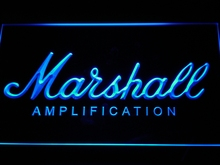 k168 Marshall Guitars Bass Amplifier LED Neon Sign with On/Off Switch 7 Colors 4 Sizes to choose