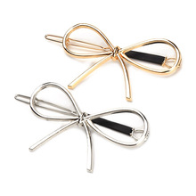 Metal Bow Knot Vintage Hairpins Hair Barrettes Girls Women Hair Accessories Hairgrips New Brand Hair Holder New Hair Clip(China)