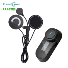FreedConn 1 Piece 3 Riders Connected Motorcycle Helmet Intercom Headset with Soft Earphone 800M Bluetooth Helmet Interphone