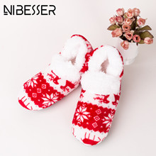 Buy NIBESSER Christmas Sock Women Winter Warm Adult Floor Sock Thickening women's slip-resistant Thermal Cartoon non-slip Sock Z30 for $3.70 in AliExpress store