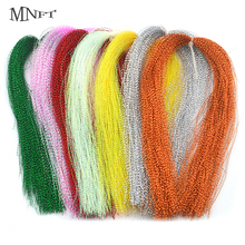 MNFT 12 Pack Sparkle Flashabou Tinsels Colorful Flat Glittering Crystal Flash Tinsel Sabiki Treble Hook Lure Fly Tying Material(China)