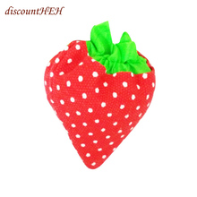 Convenience Shopping Bag Portable Shopping Tote Daily Use New Simple Strawberry Fruit Green Folding Bag(China)