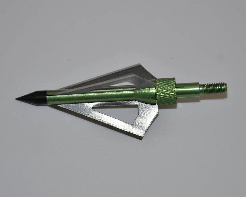 3 Blades Archery Broadheads Green Steel Arrow Tips