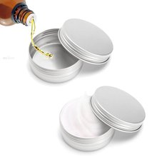 24pcs/lot Cosmetic Boxes Cream Jars Aluminium 25g 0.9 Ounce 39*20mm Screw On Lids With Lid Case Jar Tins Lip Balm Container(China)
