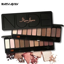 MARIA AYORA 10 Colors Eye Shadow Makeup Shimmer Matte Eyeshadow Earth Color Eyeshadow Palette Cosmetic Makeup Nude(China)