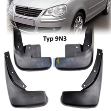Molded Mud Flaps Volkswagen VW Polo Mk4 9N3 2005-2009 Mudflaps Splash Guards Front Rear Flap Mudguards 2006 2007 2008 9N - BuiltTough Store store