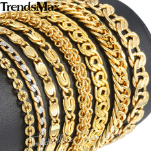 Trendsmax 585 Gold Bracelet For Women Men Silver Snail Wheat Chain Trendy Jewelry GB293(Hong Kong)