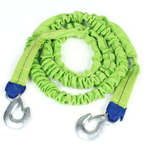 UXCELL Car Truck Emergency Green Elastic Nylon Strap Towing Rope 7.2Ft Length 2 Tons