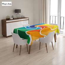 Holiday Table Cloth Rainbow Spiral Gradient Wind Rose Psychedelic Display Surreal Orange Green Blue 145x120 cm / 145x180 cm
