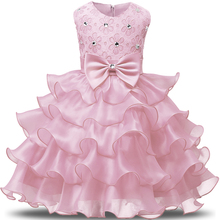 Fancy Baby Girl Ball Gown Tutu First Birthday Dress Girls Kids Dresses Party Evening Formal Wear Costume Children's Clothing(China)