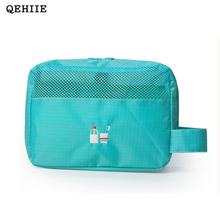 Wholesale Korea Travel Organizer Cosmetic Bag Portable Waterproof Makeup Bags Personal Hygiene Products 2017 Women Cosmetic Bag(China)