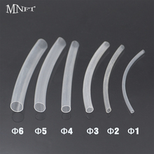 MNFT 60PCS (6CM/PCS)Carp Fishing Rigs Shrink Tube Fish Rig Making Transparent Heat Shrink Tubes Rigging Material(China)