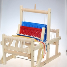 New Arrival Kids Funny Wooden Multi-Craft Weaving Loom Education Developmental Toy DIY Sewing Kits