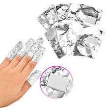 100Pcs Aluminium Foil Nail Wraps Nail Art Soak Off Acrylic Gel Polish Remover(China)