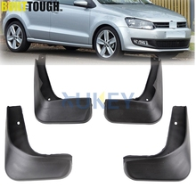 Set Mud Flaps For VW Polo Mk5 6R 2010-2014 Mudflaps Splash Guards Front Rear Mud Flap Mudguards Fender 2011 2012 2013(China)