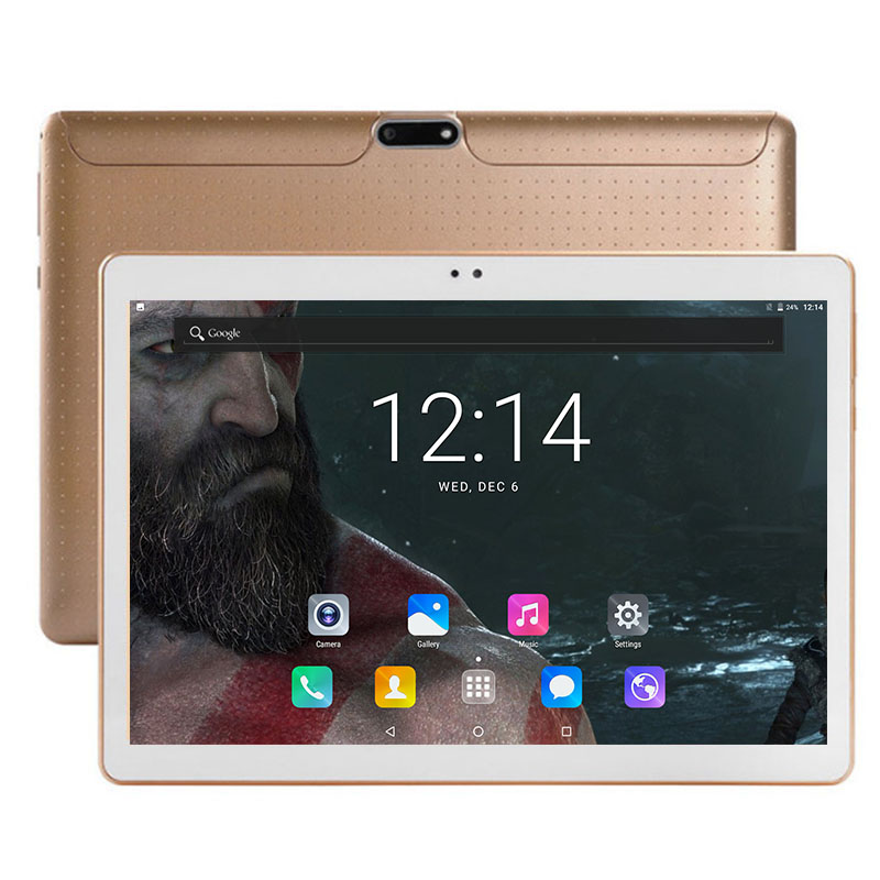 Free Shipping 10 inch Tablet PC 3G Dual SIM Card Phone Octa Core 4GB RAM 64GB ROM Android 7.0 GPS 1280*800 IPS 5.0 MP camera(China)