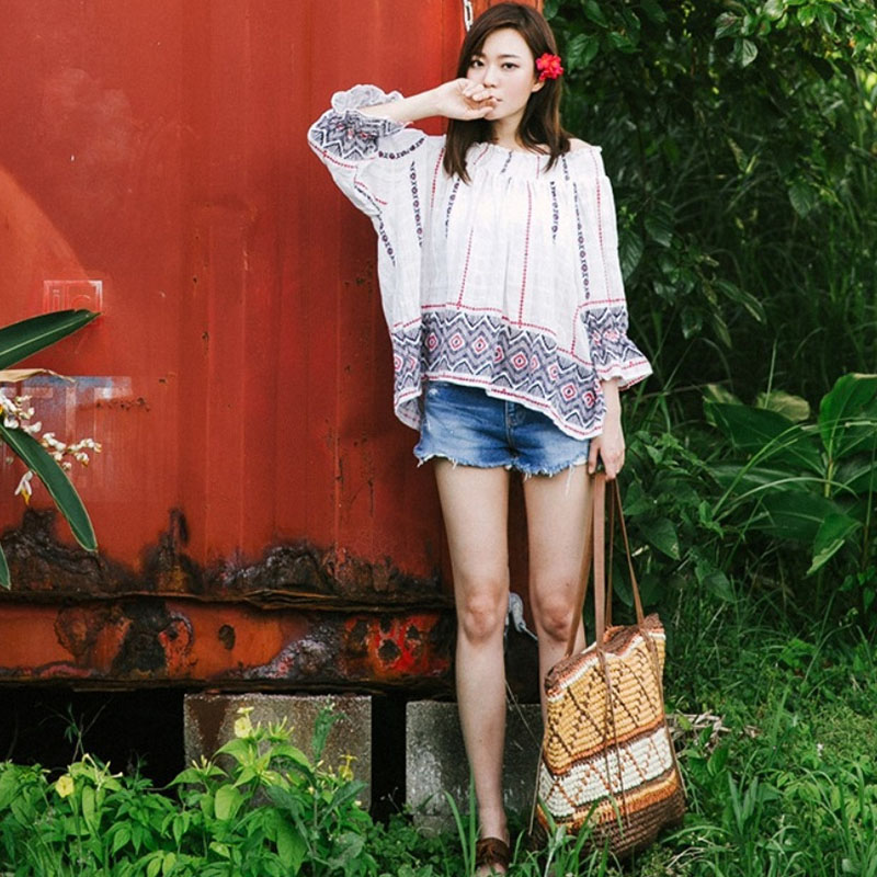 Women Straw Bag Bohemian Female Summer Large Beach Vintage Woven Handbag Lady Shopping Shoulder Bags Travel Casual Tote SS3056 (5)