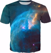 The Bubble Nebula 3d Print T-Shirt Women Fashion Clothes T shirts Casual crewneck tops tees funny tshirt(China)