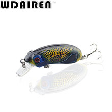 1Pcs 6cm 9.7g Wobblers Top water Fishing Lures Popper Lure Crankbait Minnow Hooks 6# Swimming Crank Baits NE-431