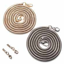110CM Shoulder Belts Stainless Steel DIY Chain Strap Handle Copper Bag Metal Replacement Straps Bands Bag Parts Accessories(China)