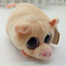 Cute Mini Original Plush Toys Beanie Big Eyes Pocket Candy Pig Stuffed Doll Toys Pink Baby Kids Gift(China)
