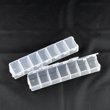 6PCs 42 Compartment Plastic Storage Box Saundries Container Clear Beads Display Jewelry Storage Box Makeup Organizer 158x34x20mm(China)