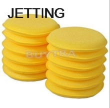 JETTING 12pcs/lot Car Window Cleaning Care Care Fashion Waxing Polish Wax Foam Sponge Applicator Pads For Clean Cars Vehicle(China)
