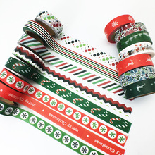 (5 pieces/lot) Vintage Christmas Washi Tape Decoration Cartoon Scrapbooking Adhesive Paper Tape