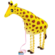 1Pcs Cute Dog Giraffe Pet Walking Balloon Baby Shower Foil Balloon Party Birthday Wedding Decorations Toys(China)