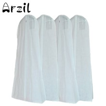 170cm Wedding Dresses Storage Bag Non-Woven Fabric Plastic Double Side Garment Dust Proof Cover Bags For Clothes Trailing Tail(China)