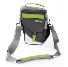 Fashion Camera Shoulder Bags Photo Video Carry Case Black Green Digital Soft Sling Bag with Rain Cover for DSLR Canon Nikon(China)