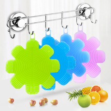 Creative Flower Silicone Dishwashing Sponge Cleaning Scrubber Brush Kitchen Tool