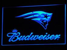 b298 New England Patriots Budweiser LED Neon Sign with On/Off Switch 7 Colors 4 Sizes to choose(China)
