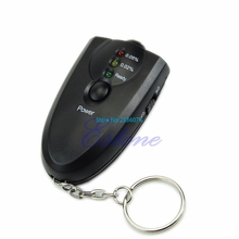 OOTDTY Digital LED Breath Alcohol Tester Breathalyzer Analyzer Detector Test With Keychain