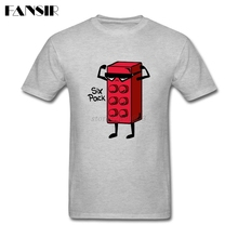 Plus Size Six Pack Mail Box Casual T-shirts Men Man's White Short Sleeve Custom Men T Shirt Group Brand Clothing