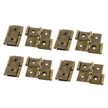 UXCELL 46Mmx54mm Retro Style Double Acting Folding Screen Hinge Bronze Tone 8Pcs(China)
