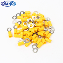 DIANQI RV5.5-6 Yellow Ring insulated terminal cable Crimp Terminal suit 4-6mm2 Cable Wire Connector  100PCS/Pack RV5-6 RV