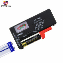 New Battery Tester BT168 Capacity AA AAA 1.5V 9V Power Supply Check Meter BT-168 C D Button Battery Test Checker Voltage Meter(China)