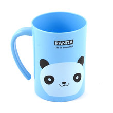 UXCELL Plastic Cartoon Panda Pattern Brushing Cup Toothbrush Holder Blue