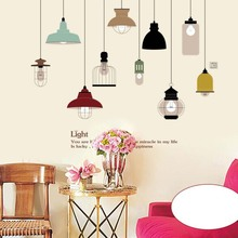 New Chandelier DIY Pvc Mural Wall Stickers Restaurant Kitchen Waterproof Home Decor Art Wall Decal Hot Sale
