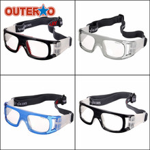 OUTERDO PC Silicone Basketball Soccer Football Sports Protective Goggles Outdoor Sports Safety Glasses Elastic Cycling Eyewear(China)