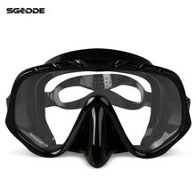 Anti-Fog Diving Goggles Scuba Mask Glasses Silicone Large HD View Tempered Mirrored Lens Wearproof Tempered Glass
