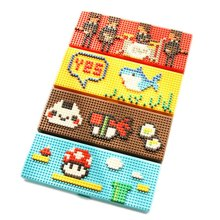 Creative DIY 3D Cartoon Building Blocks Toy Pencil Case Kawaii Design Plastic Pencil Box Emoji Stationery school pencil case(China)
