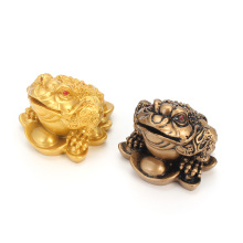 Traditiona Feng Shui Money LUCKY Fortune Wealth Chinese for Frog Toad Coin Home Office Decoration Tabletop Ornaments Lucky Gifts(China)