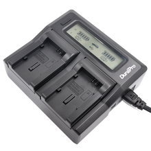 DuraPro Dual Double Digital LCD Quick Battery Charger For BP-808 BP808 BP-809 BP809 BP819 BP827 FS300 FS100 XA10 VIXIA HG20 HG21